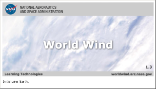 NASA World Wind 起動画面