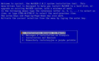 NetBSD インストール中の画面